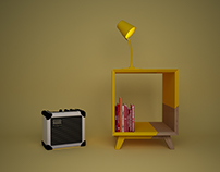 Cube bedside table (re-design)