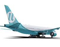 Альтернативный вариант логотипа UTair (в работе)