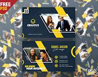 Designer Business Card Premium PSD Template
