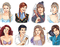 Realistic Disney Portraits