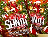 Sexy Santa Party Christmas Flyer Template