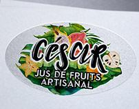 Création logo Jus de Fruits, Guadeloupe César