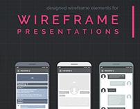FREE-Wireframe Element KIT for Design Presentations