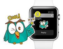 Little Owl Stickers for 8 Sticker Messenger