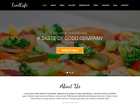FoodCafe - Onepage Restaurant PSD Template