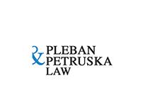 Pleban & Petruska Law Firm Logo Concept