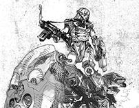 Ink characters (cyberpunk classic)
