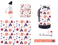 "Pattern for a backpack ""La Parisienne"""