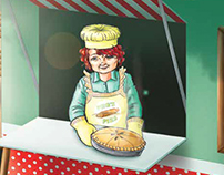 Peg the pie lady comes to town, Mascot Books