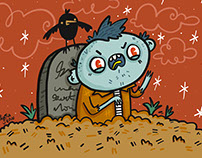 "Drawlloween Halloween Illustrations Part 1 ""2017"""