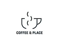 Coffee & Place - projekt logo dla kawiarni