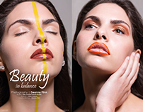 Beauty in Balance Editorial for Scorpio Jin Magazine