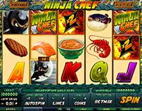 Ninja Chef slot game design / Flash animation