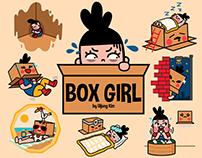 Box Girl Facebook Sticker Set