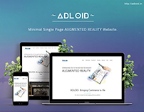 ~Adloid~ Minimal Single Page AUGMENTED REALITY Website.