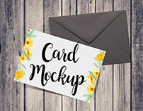 Free Card & Envelope Mockup Psd Download
