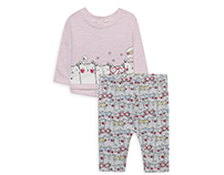 PRIMARK - Baby girl Cats Print + All over print set