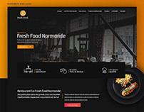 Website for a restaurant. Fresh Food Normande