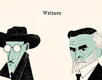 """Writers"" portraits"