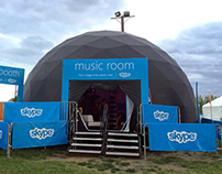 The Skype Music Room at Sasquatch!