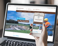 Responsive webdesign for land surveying service office