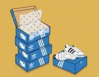 Adidas Superstars Illustrations