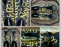 #handpainted #shoes#calligraphyshoes #sexy #converse