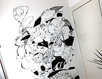 Character Cloud Mural