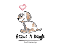 Rescue A Beagle | Tee Shirt Design