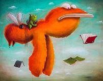 Flying Monster and Book Hunter