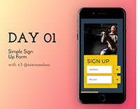 Daily UI - Day 1 - aswinmohanme