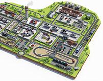 Map of Volkswagen Bratislava Plant