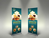 Restaurant Roll Up Signage Banner Template Vol.13