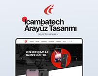 iCambatech E-ticaret Arayüz Tasarımı