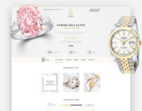 money on the security of jewelry Landing Page Design