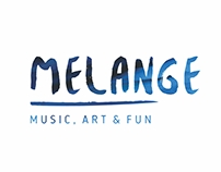 MELANGE | Music, Art & Fun | Branding
