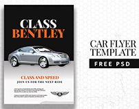 Free Car Flyer PSD Template