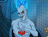 Hades takes a bath