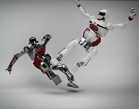 ROBOTS FIGHTING