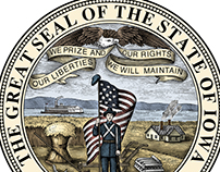 Iowa State Seal Illustrated by Steven Noble