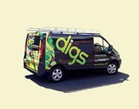 Digs, Bristol. Rebrand.