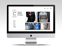 Capsule Clothing Company Website Design