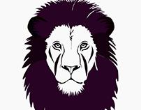 Animal simple colored illustration