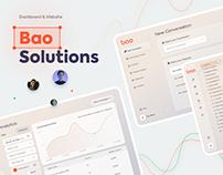 Bao Solutions - Dashboard & website design