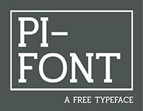 Pifont - a typeface
