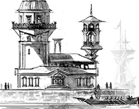 ANCIENT ISTANBUL ILLUSTRATIONS