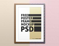 Free Poster/Frame Mockup PSD