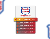 Daily UI #019: Leaderboard for Crossfit Games 2017