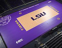 LSU Volleyball Court