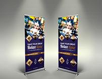 Cafe Signage Roll-Up Banner Vol.4